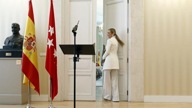 Cifuentes, el día en que presentó su dimisión como presidenta regional