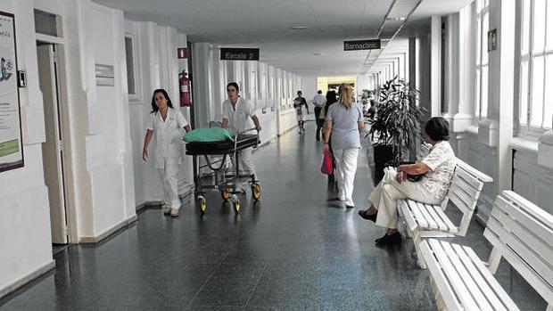 Pasillos de un hospital catalán