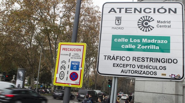 Señales indicativas de Madrid Central
