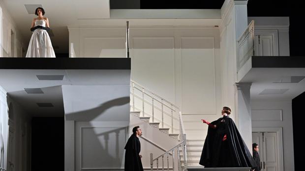 Una imagen del ensayo de «Rodelinda» en el Liceu de Barcelona