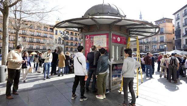 Quiosco situado en la plaza de Zocodover