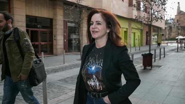Silvia Clemente se dirige a una reunión con los afiliados de Ciudadanos en Soria, en una imagen de archivo