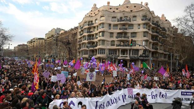 Manifestación feminista en Barcelona el año pasado