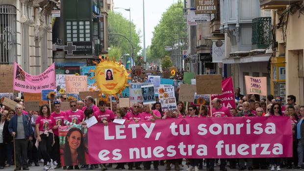 Manifestación en memoria de Leticia y para pedir el endurecimiento de la Ley del Menor, en una imagen de archivo
