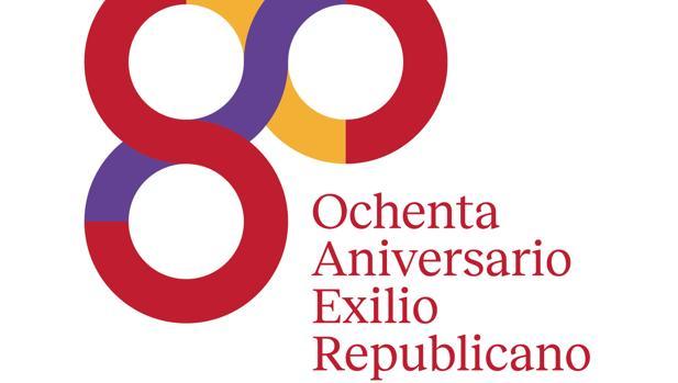 Resultado de imagen de logo 80 años exilio español