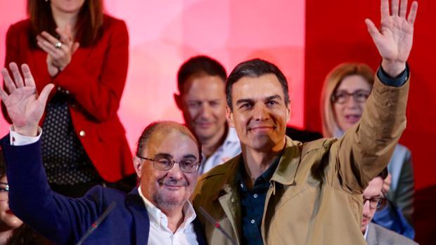 Javier Lambán y Pedro Sánchez, en una imagen de archivo