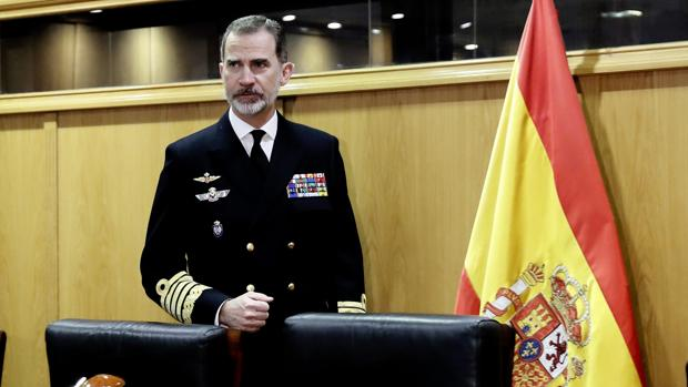 Don Felipe vista el Cuartel General del Estado Mayor de la Defensa