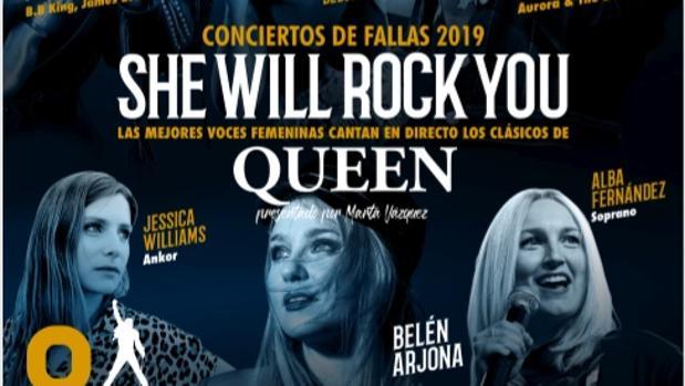 Cartel del concierto de Rock FM en Valencia