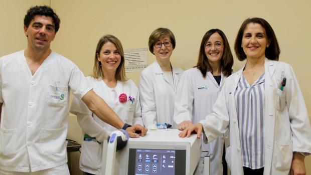Equipo del servicio de Rehabilitación del hospital de Toledo, que dirige Angustias Marquina