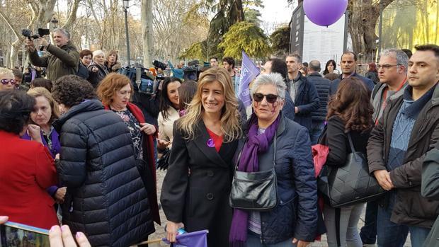 Begoña Gómez en la manifestación de Madrid