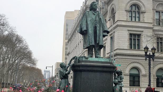Estatua de Henry Ward Beecher en Nueva York