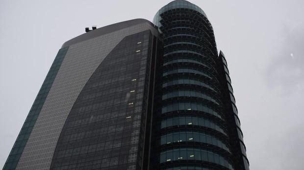 Parte alta del rascacielos, propiedad de El Corte Inglés