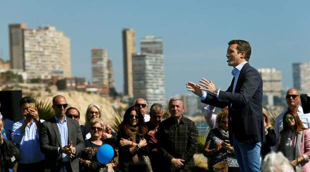 Pablo Casado, el domingo en Alicante