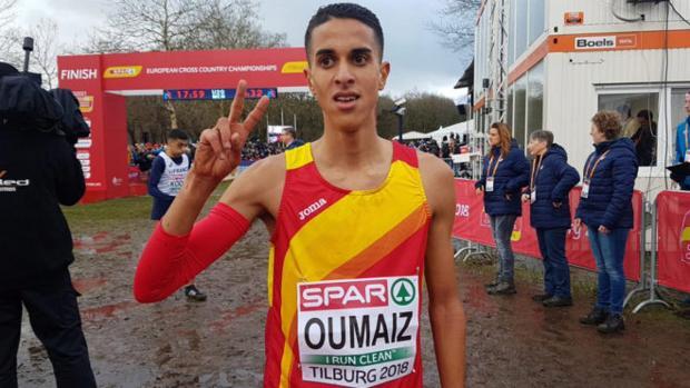 Ouassim Oumaiz, el pasado diciembre cuando fue subcampeón de Europa de cross en categoría júnior