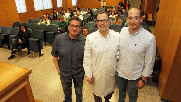 Luis Avilés, Federico Martinón y Eduardo Agraso