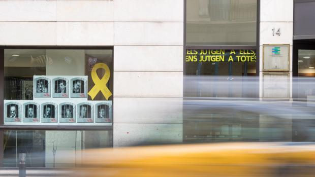 Lazos amarillos en el Departamento de Acción Exterior, Relaciones Insttucionales y Transparencia