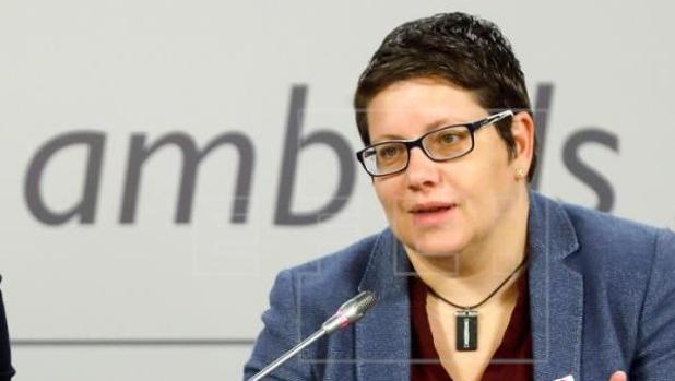 La diputada provincial Isabel García, en un acto público