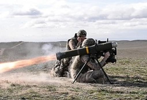 Misil Spike, de la empresa Rafael, disparado por un militar español