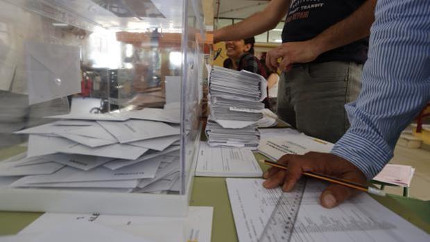 Imagen de un colegio electoral de Madrid en las elecciones del 26-J