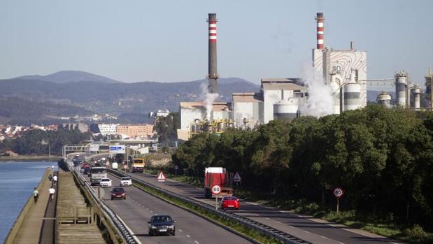 Factoría de Ence en el litoral público de Pontevedra