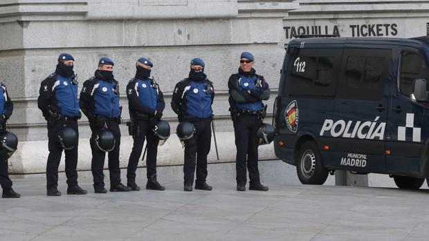 Despliegue policial en Madrid