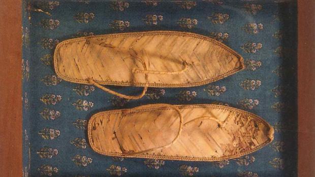 496861fa8 Barcelona Detalle de las sandalias adquiridas por el Museo Egipcio