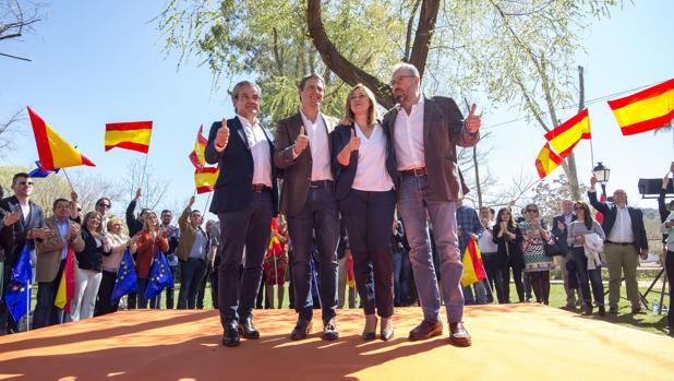 De Quinto, Rivera, Picazo y Girauta en Toledo