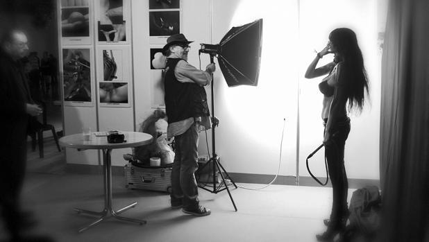Imagen de un rodaje durante el Salón Erótico de Barcelona
