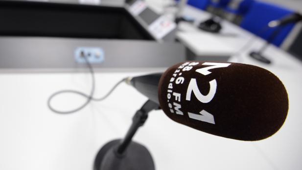 Estudio de la emisora de radio municipal M 21