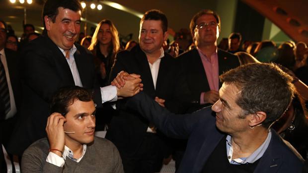 Albert Rivera, Toni Cantó, Fernando Giner, Emilio Argüeso y Juan Córdoba