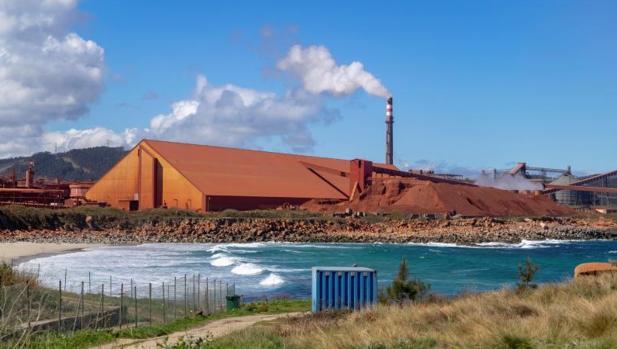 Factoría de Alcoa en San Cibrao, en el municipio lucense de Cervo