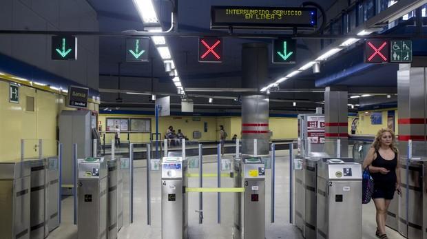 Interior de una estación de Metro de Madrid