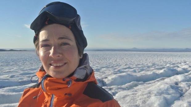 Micaela, durante su aventura polar en septiembre de 2017