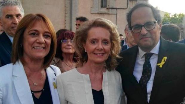 La nueva consejera con el presidente catalán, Quim Torra