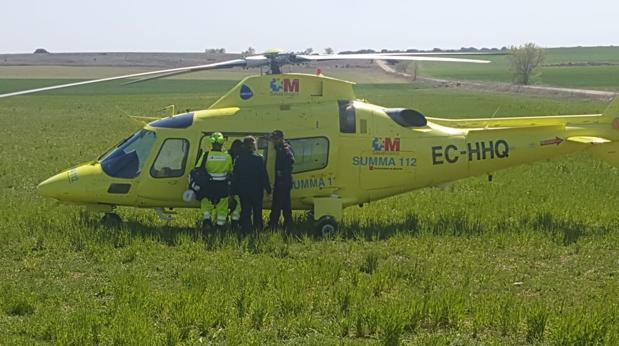 Un helicóptero evacuó al segundo motorista que sufrió politraumatismos