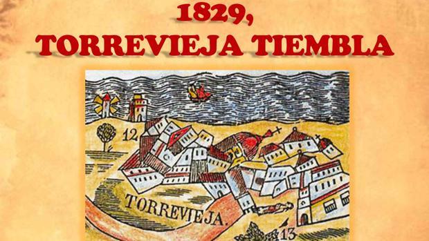 Cartel de los actos sobre el terremoto de Torrevieja de 1829