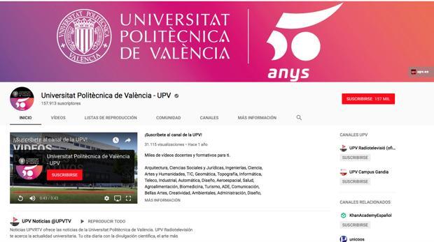 El canal de YouTube de la UPV
