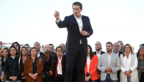 El presidente de Ciudadanos, en un acto de precampaña en La Coruña
