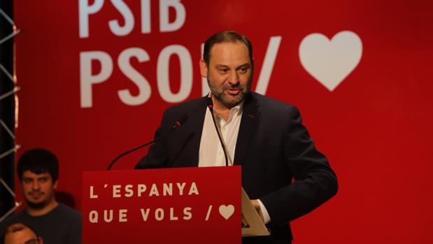 José Luis Ábalos participó ayer en un acto con los socialistas baleares