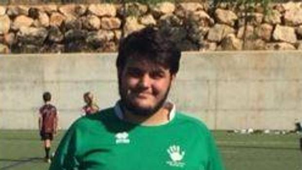 Alejandro Jiménez en una foto difundida por el Rugby Club Ponent Mallorca
