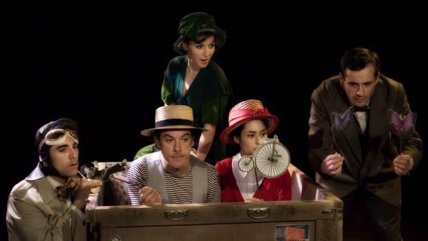 Escena de la obra el «Sueño Lorca o el sueño de las manzanas»