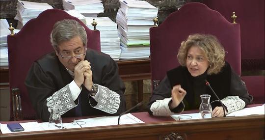 Los fiscales Javier Zaragoza y Consuelo Madrigal
