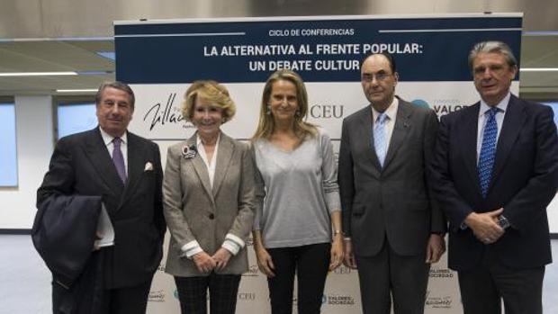 Vázquez, Aguirre y Vidal-Quadras protagonizaron el coloquio moderado por Isabel San Sebastián