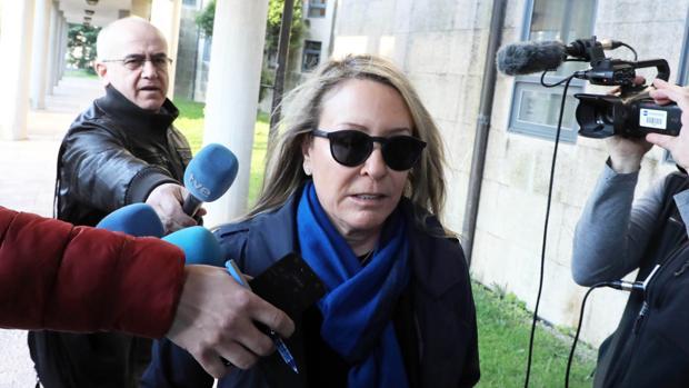 Marina Castaño, a su llegada a los juzgados de Fontiñas