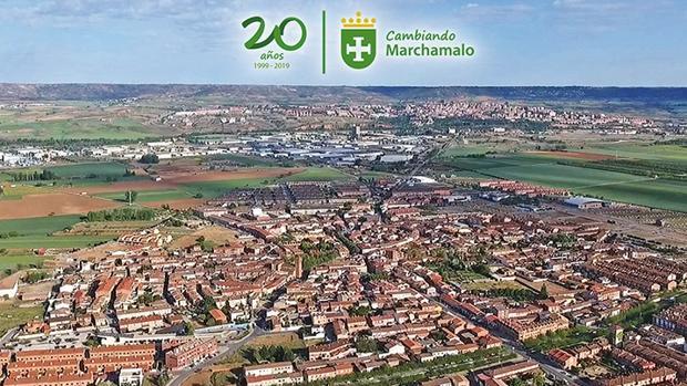 Vista panorámica del municipio de Marchamalo y que aparece recogido en el documental