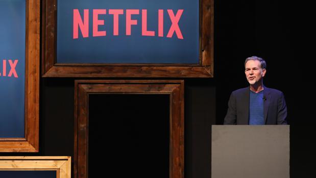 Reed Hastings, CEO de Netflix, en una presentación
