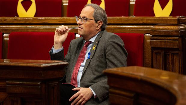 Quim Torra en el Parlamento de Cataluña