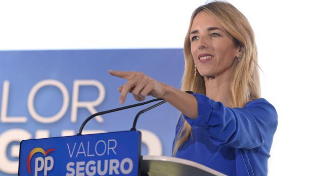 La candidata del PP por Barcelona, Cayetana Álvarez de Toledo