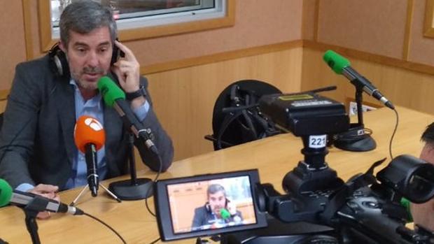 El presidente de Canarias, este lunes en una entrevista