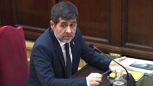 Jordi Sànchez, durante su declaración en el juicio del «procés»